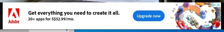 Adobe banner ad