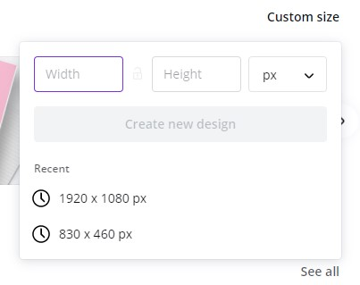 canva template custom size