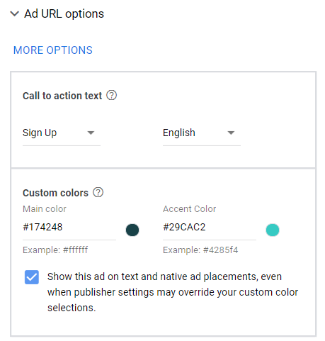 customize design responsive display ads